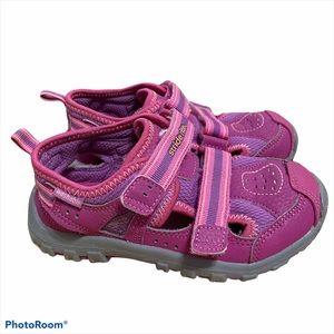 Stride Rite Pink Sandals Sz 10.5W Velcro Strap Kid